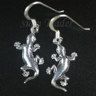 Sterling Silver Gecko Dangling Earrings AESS970