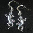 Sterling Silver Gecko Dangling Earrings AESS970