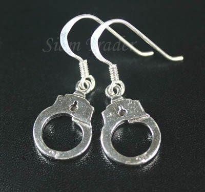 Sterling Silver Dangling Handcuff Earrings YSS22