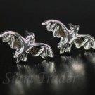 Sterling Silver Bat Stud Earrings AESS517
