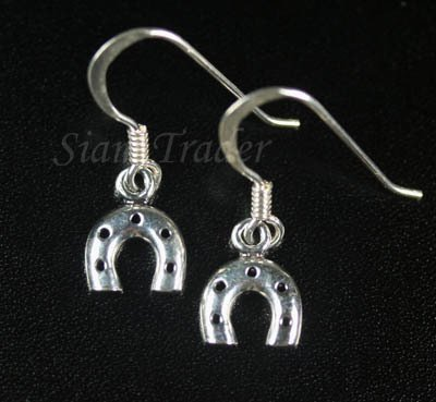 Sterling Silver Horse Shoe Dangling Earrings YSS92