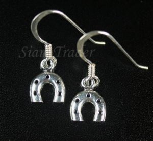 Sterling Silver Horse Shoe Dangling Earrings YSS92