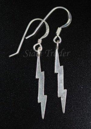 Sterling Silver Lightning Bolt - Dangling Earrings AESS146