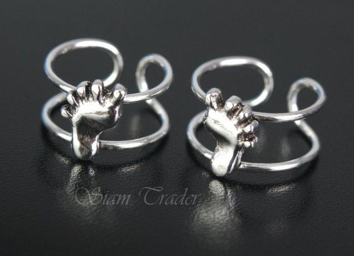 Sterling Silver Bare Feet Ear Cuffs CSS289