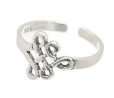 Sterling Silver Lattice Toe Ring TRSS112