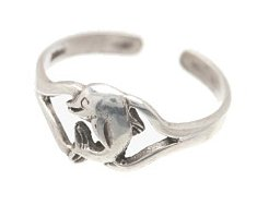 Sterling Silver Dolphin Toe Ring TRSS114