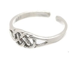 Sterling Silver Weave Toe Ring TRSS115