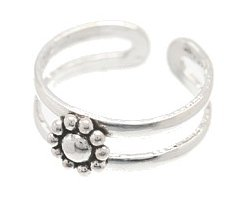 Sterling Silver Sunflower Toe Ring TRSS118
