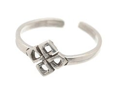 Sterling Silver Square Weave Toe Ring TRSS119