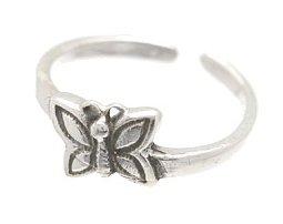 Sterling Silver - Butterfly - Toe Ring TRSS125