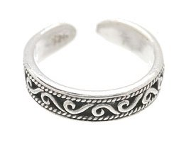 Sterling Silver - Curls - Toe Ring TRSS130