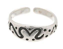 Sterling Silver - Modern Art - Toe Ring TRSS140