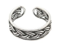 Sterling Silver - Braid Style 1 - Toe Ring TRSS144