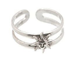 Sterling Silver - Sun - Toe Ring TRSS151