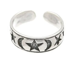 Sterling Silver - Stars & Moons - Toe Ring TRSS17