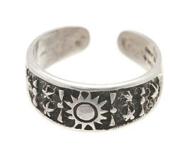 Sterling Silver - Sun & Stars - Toe Ring TRSS3