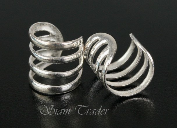 Sterling Silver - 4 Loop - Ear Cuffs CSS272
