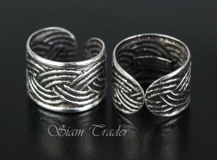 Sterling Silver - Weave - Ear Cuffs CSS258