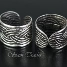 Sterling Silver - Weave - Ear Cuffs CSS258