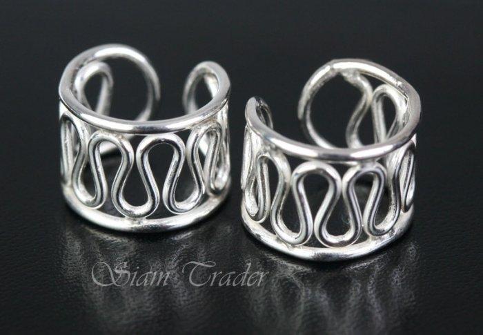 Sterling Silver - Flowing Thread - Ear Cuffs CSS171