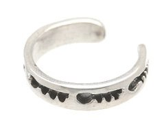 Sterling Silver -Imprinted Keys - Toe Ring TRSS61