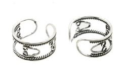 Sterling Silver 'Safety Pin' Ear Cuffs CSS209