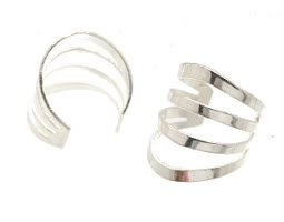 Sterling Silver Quad Ring Ear Cuffs CSS84