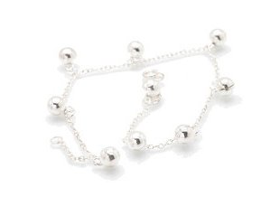 """Sterling Silver 9"""" Anklet AKSS17"""