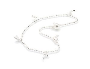 """Sterling Silver 9"""" Anklet AKSS18"""