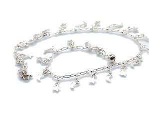 "Sterling Silver 9.5"" Anklet AKSS35"