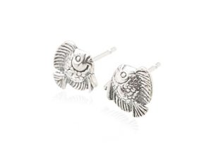 Sterling Silver Flounder Earrings AESS1762