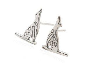 "Sterling Silver 'Howling"" Earrings AESS1765"
