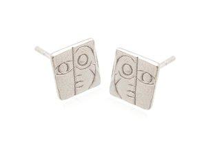 Sterling Silver Artistic Face Earrings AESS1768