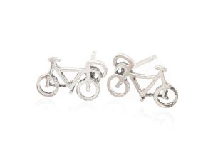 Sterling Silver Bicycle Earrings AESS1773
