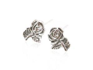 Sterling Silver Rose Earrings AESS1775