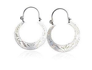 Sterling Silver Hoop Earrings  AESS119