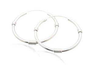 Sterling Silver Hoop Earrings  AESS120