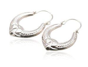 Sterling Silver Hoop Earrings  AESS393