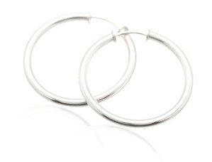 Sterling Silver Hoop Earrings  AESS605