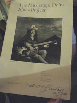 Rare Jessie Mae Hemphill Signed Poster