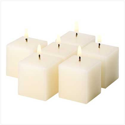 #39213 Ivory Vanilla Votive Cubes