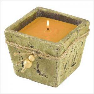 #39239 Stone-Finish Candle Pot