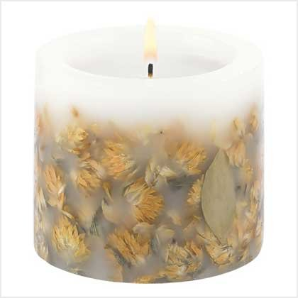 #39208 Dried Wildflower Candle