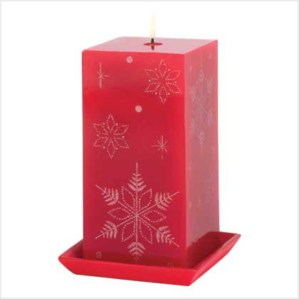 #39216 Jeweled Snowflake Candle