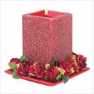 #39237 Red Stardust Candle