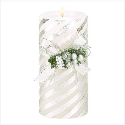 #39207 Silver Stripes Candle