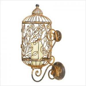#39036 Birdcage Candle Holder
