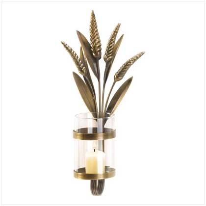 #38255 Metal Cattail Candleholder