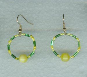 College Color Earrings