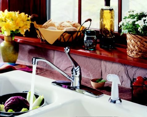 Classic Single Handle Kitchen Faucet W/Spray